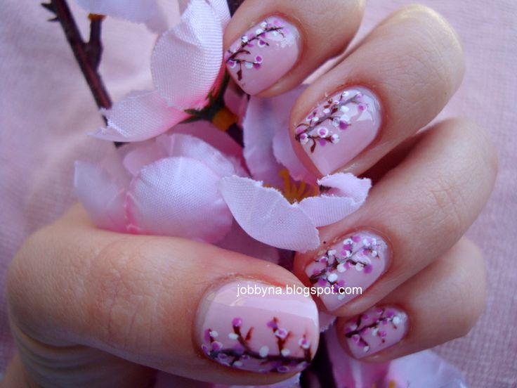 Sakura Nail Art by Jobbyna