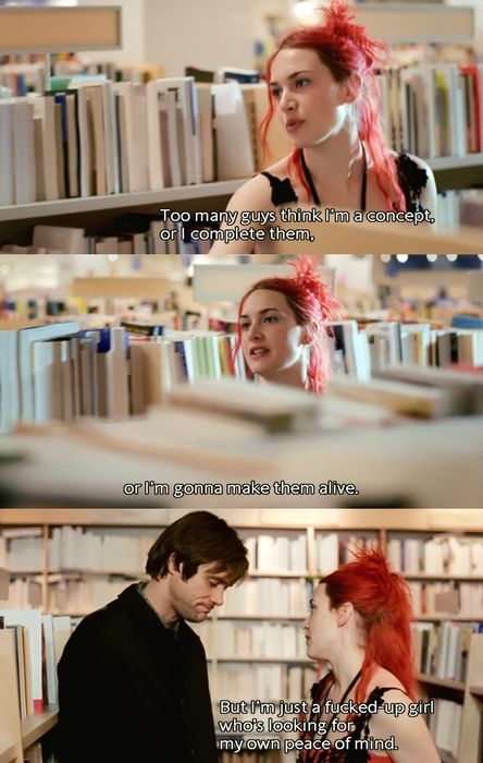 Eternal sunshine of the spotless mind. <3 my favorite.