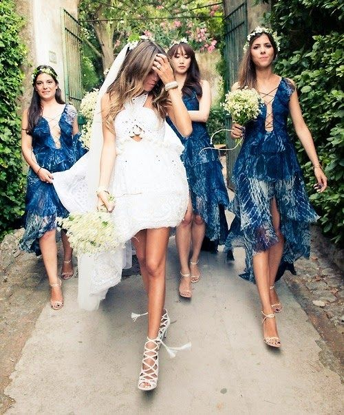 The relaxed hair- and yeah the whole bridal party <3