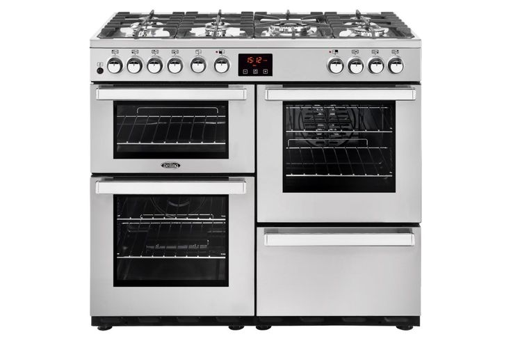 Belling Cookcentre 100cm Dual Fuel Range Cooker | 100DFTPROFSTA