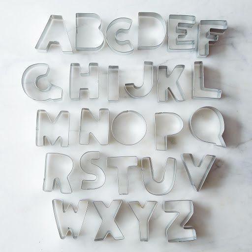 Alphabet Cookie Cutter Set on Provisions by Food52
