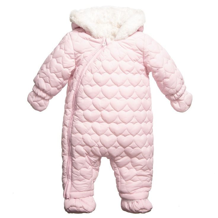Absorba - Baby Girls Pink Quilted Snowsuit | Childrensalon