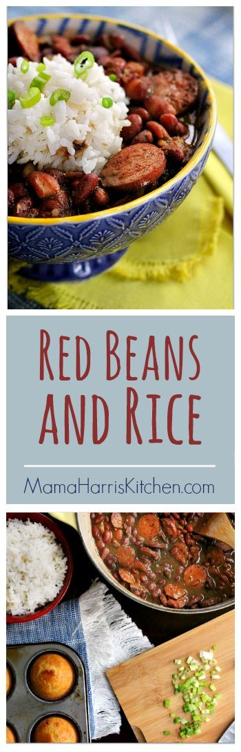Red Beans and Rice | Mama Harris' Kitchen  This red beans and rice recipe is easy enough to put together with pantry staples. This inexpensive meal is full of flavor and leaves plenty of leftovers. (Cheap Winter Recipes)