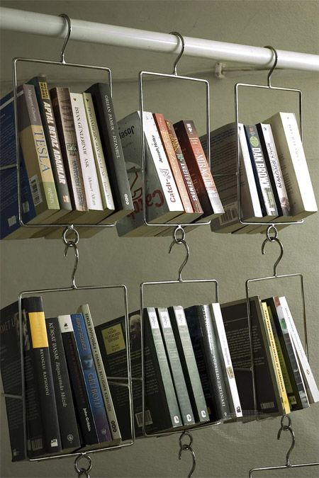 Unique Bookshelves.   Salkim Hanging Bookshelf