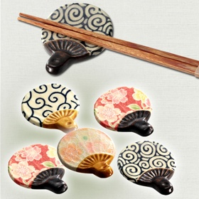 Chopstick rest  うちわ型の箸置き