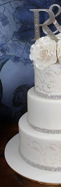 DECORATE MY WEDDING Swarovski Rhinestone Cake Banding 2 Rows