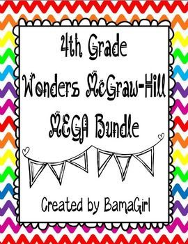 How would you like to purchase ALL my 4th grade Wonders McGraw-Hill reading products in one easy download?  Now you can!  This purchase includes 812 pages of resources to help you enhance your Wonders reading instruction!  Purchase the Mega Bundle and save money versus buying each bundle or unit separately!The following bundles for the entire year (units 1-6) are included...click on the title of each product to see exact descriptions and get a closer preview of each resource:4th Grade Daily…