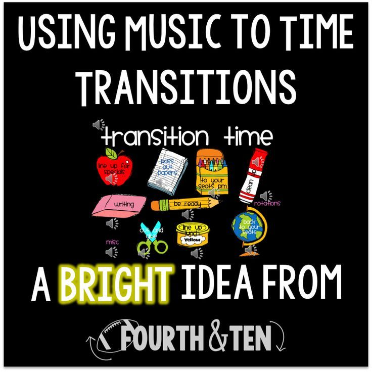Manage classroom transitions with music!