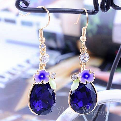 Purple nice ear rings
