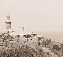Barrenjoey Head Land. The Lighthouse and Cottages, 1902. v@e.   https://www.google.com/search?q=Barrenjoey Lighthouse