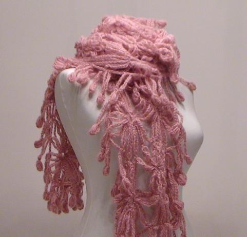 SUPER SALE Bridal Shawl Handmade Pink PoleStar by trendyknitting, $50.00