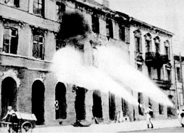 The Nazis burned and demolished 85% of the city of Warsaw Poland after the Warsaw uprising that began Aug.1,1944.The Polish Resistance Army wanted to liberate Warsaw from Nazi Germany. They faught for 63 days with no help. The Soviets were to move in and help but they backed out .