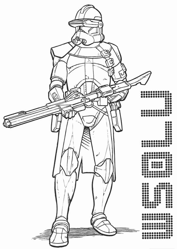 Clone Trooper Coloring Page New Star Wars Drawings Of ...