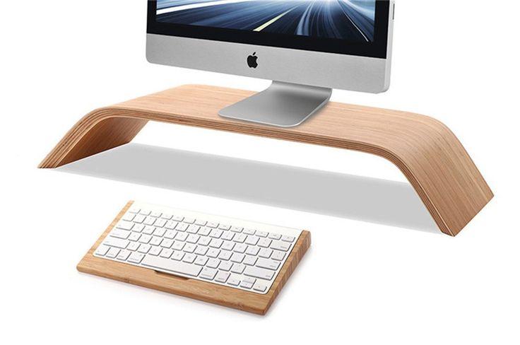eimolife ® Creative artisanal naturel bambou bois dur Stand Holder /supporter pour ordinateur (DELL, Apple, HP, SONY, SAMSUNG, ASUS...), artisanat et plus.: Amazon.fr: High-tech