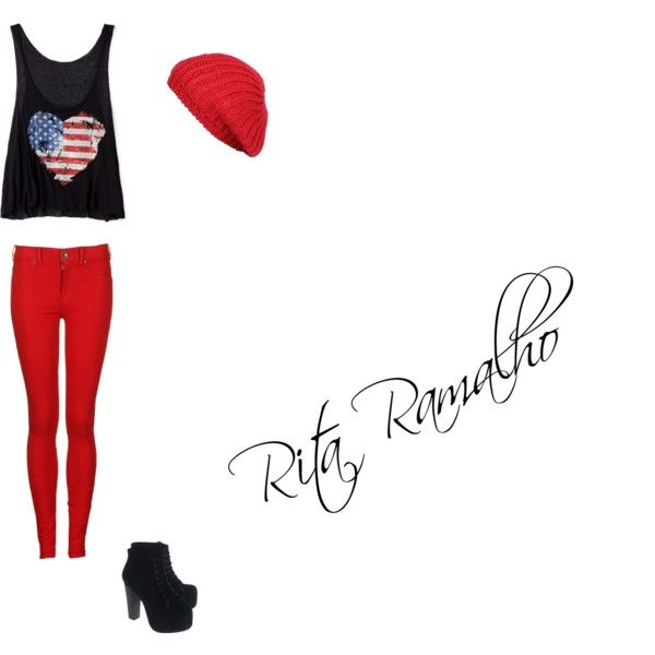 American Hearth by ritinha-ramalho on Polyvore featuring Forever 21, Dr. Denim, Jeffrey Campbell and Agent Ninetynine