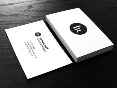 Minimalistic business cards in grayscale colorscheme