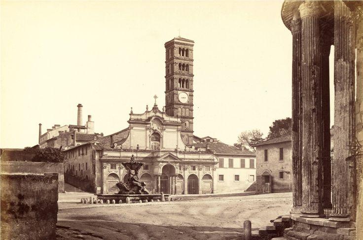 Basilica di Santa Maria in Cosmedin fine Ottocento, naturalmente prima del restauro del 1899.