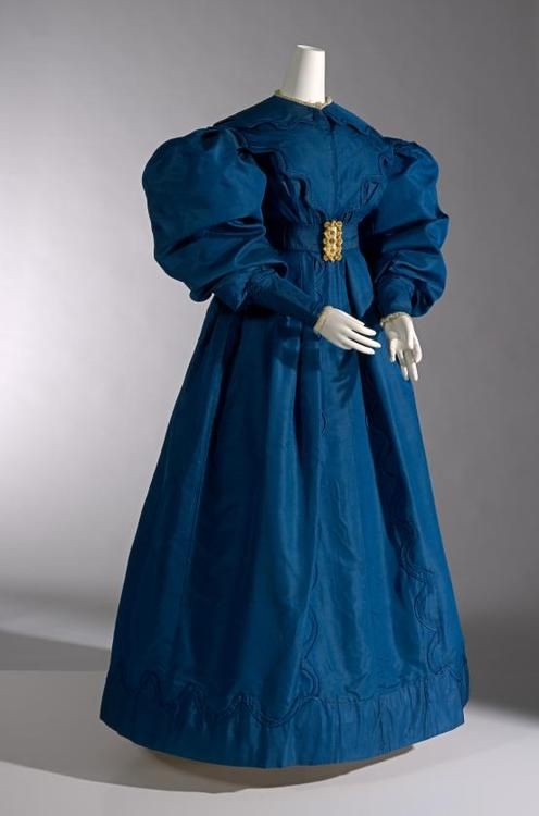 Silk Carriage Dress, circa 1830, England. From the NGV.