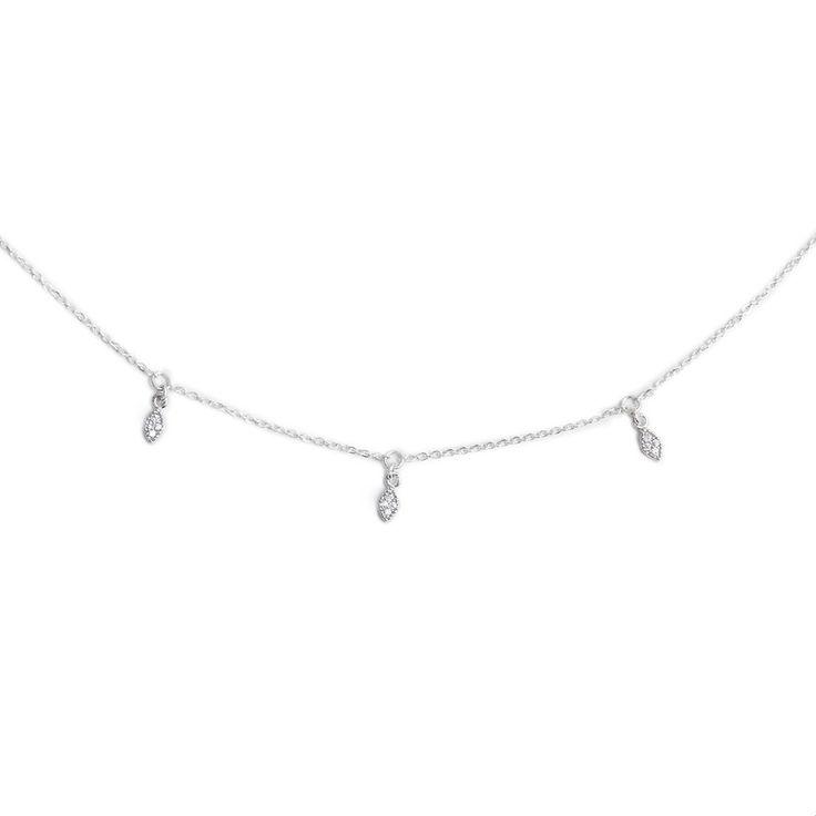 MARQUISE CHOKER SILVER - THE DARK HORSE JEWELLERY #LouiseJean #silver #jewellery #choker