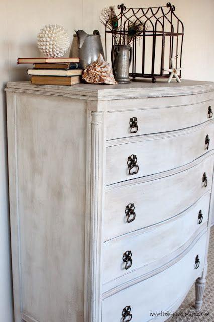Silver Pennies: Rosalind Dresser (Before & After) in MMS Milk Paint Grain Sack w…