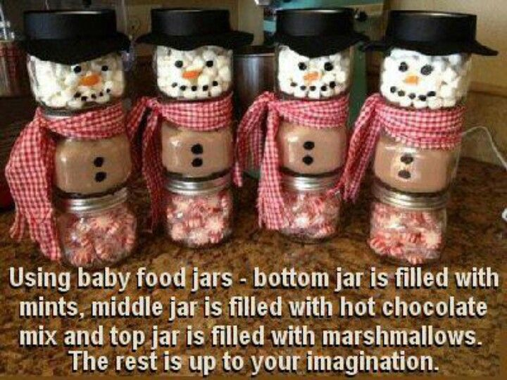 Good for a DIY Christmas gift.  Homemade Christmas coco snowmen! or fun holiday craft for toddlers - let them pick what goes in it