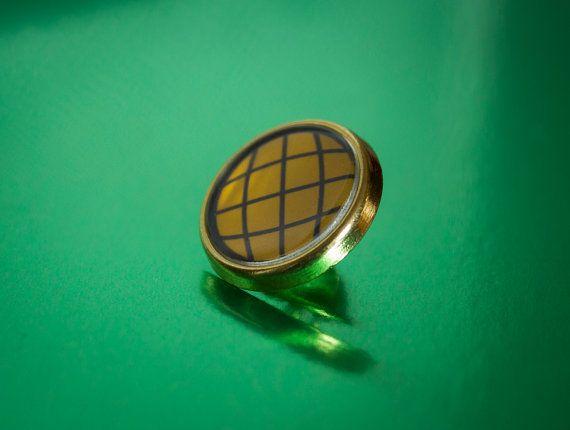 Retro Captain Planet  Pin / Lapel Badge by UnofficiallyOriginal