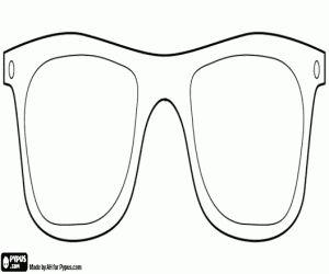 Gratis Brillen te verhullen kleuring en printen pagina.
