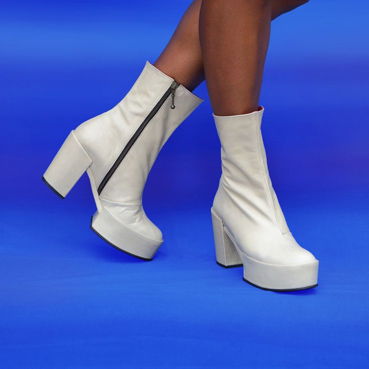 KYOTO MEDIUM - Inspired by Footwear of Geisha - Minimalist Statement Ankle Boot by Preston Zly