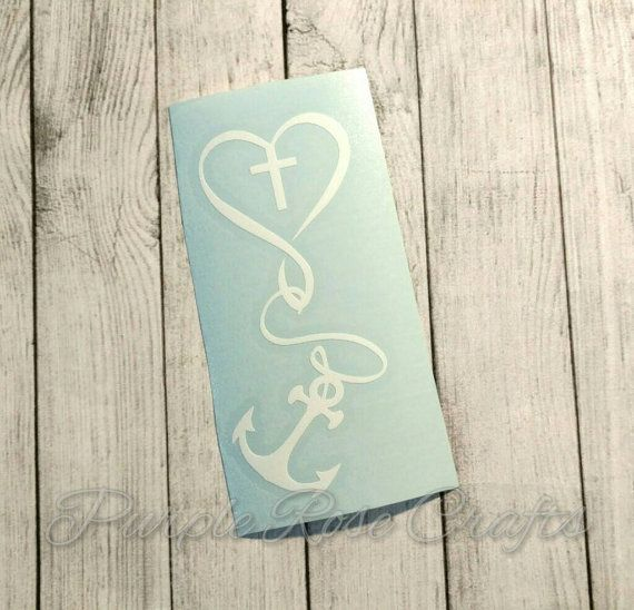 Love for God Anchor Cross Christian Religious Decal - Sticker - Cling - Window - Car - Tablet -Laptop - Cup - Tumbler - Computer