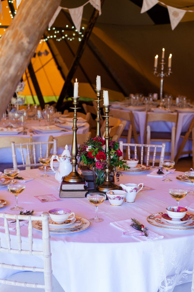 devonvintagechina.co.uk tipi styling for the worldinspiredtents.co.uk Open Weekend  Image by sarahlaurenphotography.com