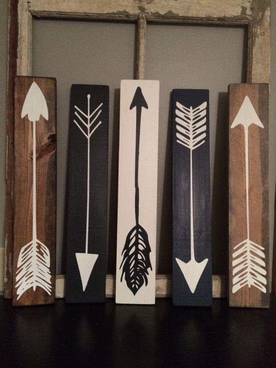 Wood Arrow Wood Sign by FarmhouseSigns01 on Etsy