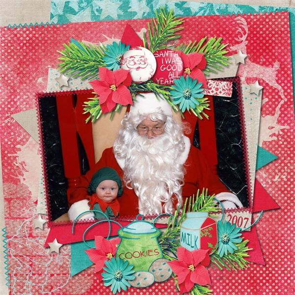 Santa's coming to Town by Sunshine Inspired Designs and Chunlin Designs part of the Santa's Stocking Grab Bag, With Love Studio December  XOXO Collab http://withlovestudio.net/shop/index.php?main_page=product_info&cPath=1&products_id=6422  My Life in pictures template by Lisa Rosa from With Love Studio