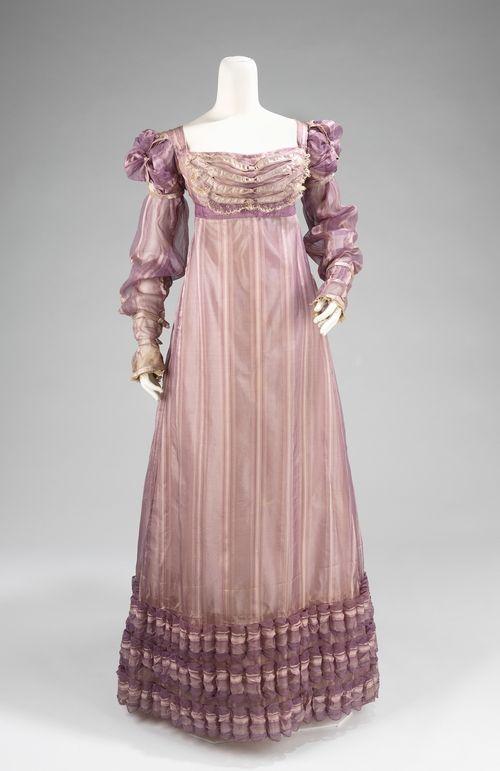Silk evening dress, c. 1820. was Brooklyn Museum now Met