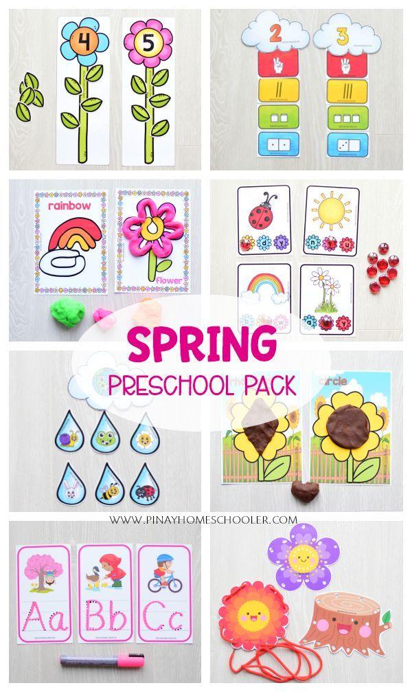 Spring Preschool Kindergarten Unit Math And Literacy Centers Spring Preschool Montessori Activities Kids Learning Activities Preschool literacy activities for spring