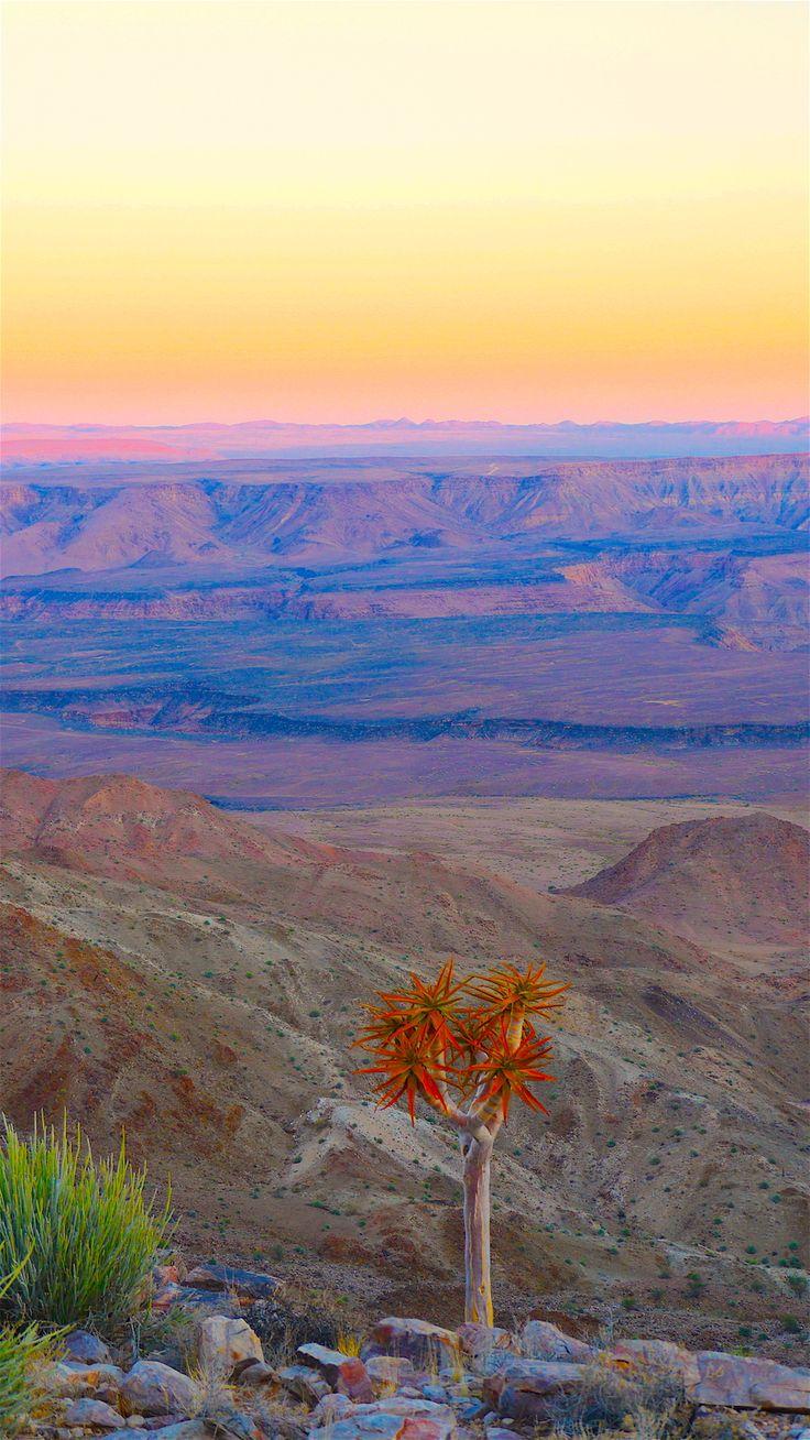 #Desert #Sunset Fish River #Canyon #Namibia