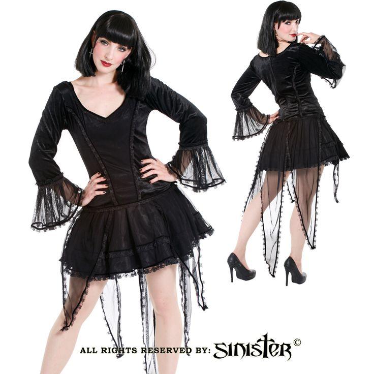 Gothic pixie tail miniskirt by Sinister (Skirt 675 & Top 676) www.sinister.nl