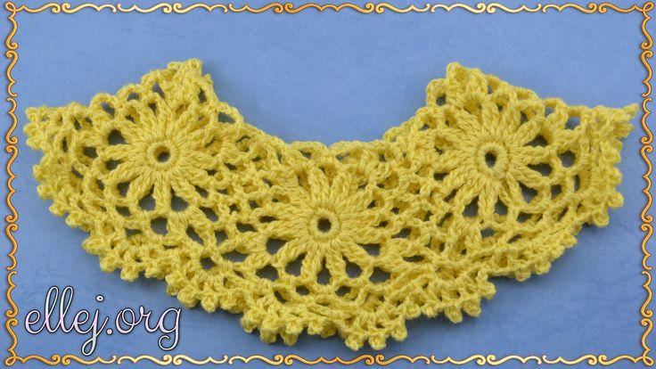 Рюш из мотивов крючком. Безотрывное вязание. How to crochet a-line motifs.