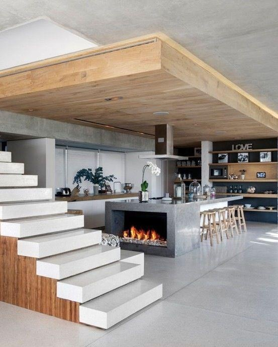 i like the fireplace in the kitchen albeit totally impractical