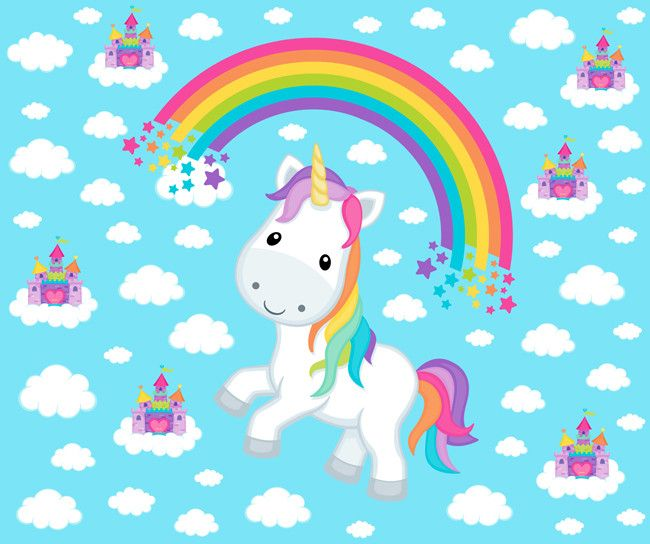 349 best rainbow illustrations images on pinterest for Space unicorn fabric