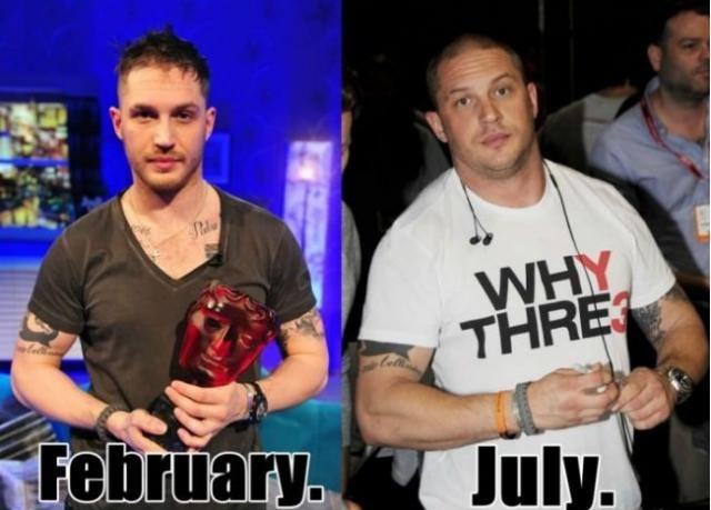Tom Hardy's Bane Transformation - I admire that guy, really.