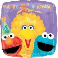 45cm Sesame Stree Happy 1st Birthday $9.50 (filled with Helium in Store) U119570