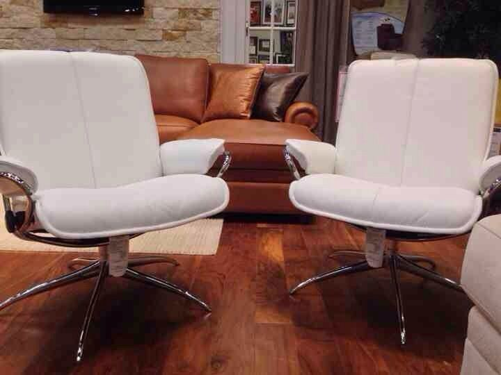 From Galleryfurniture.com · Put A Decorative Spin On Your Home Office With  A Striking Bright White Leather Chair!