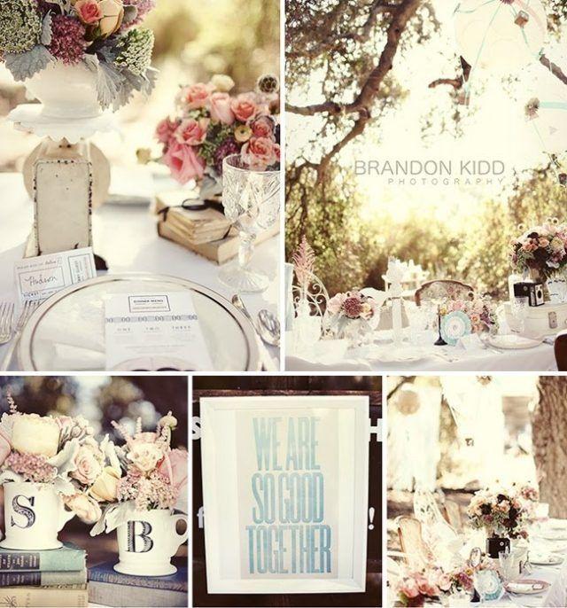 idées charmantes de décoration de mariage vintage ou champêtre chic