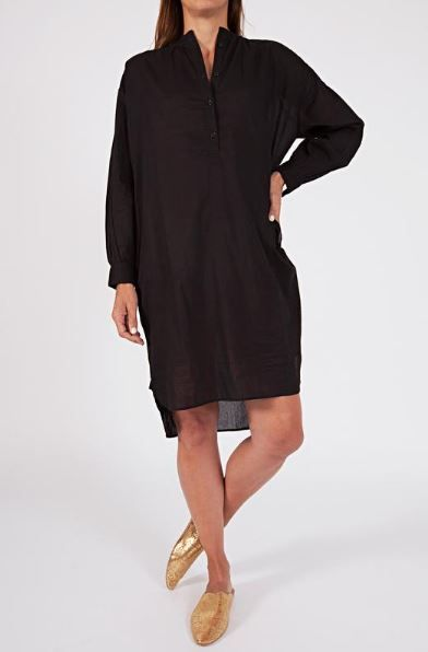 woven cotton oversized shirt dress, (available in three shades) $79 www.sassind.com