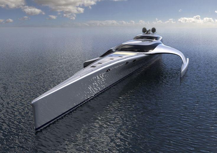 Superyacht Adastra, 42.5m Power Trimaran John Shuttleworth Yacht Designs Ltd