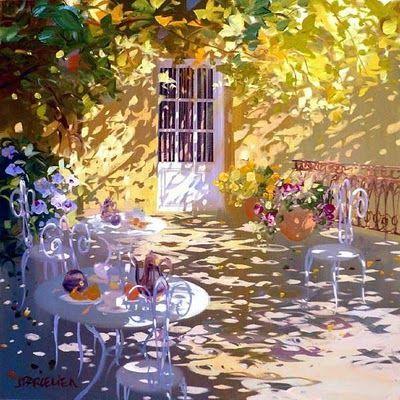 Laurent Parcelier French Artist. Terraces ~ Blog of an Art Admirer #Art