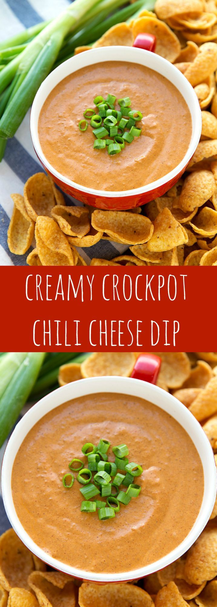 Easy Crockpot Chili Cream Cheese Dip (NO Velveeta!)