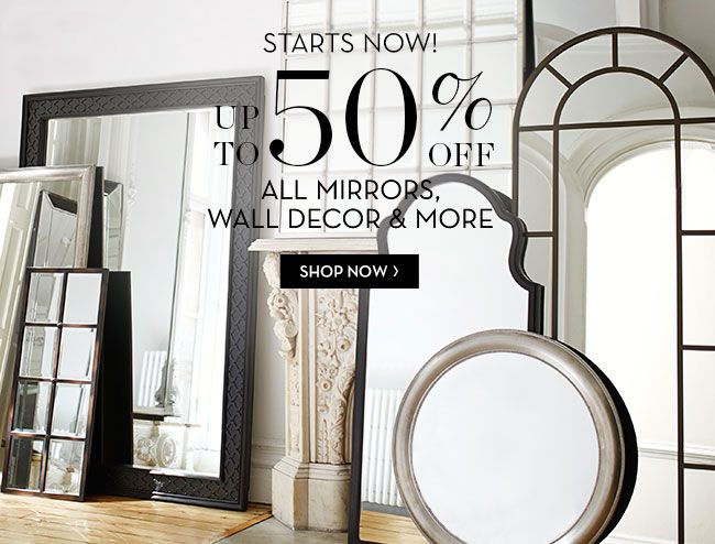 Mirror mirror on the wall pottery barn has 50 off for all