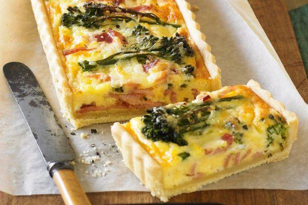Broccolini & bacon tart