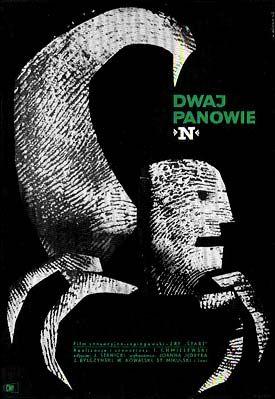 Vintage Polish movie poster 1962 by Wiktor Gorka : Dwaj panowie N.